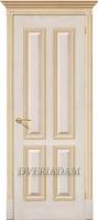 Межкомнатная шпонированная дверь Плимут ПГ Слоновая кость с золотом