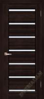 Дверь Премьер Плюс ОКА (цвет венге) частично остекленная