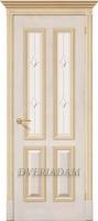 Межкомнатная шпонированная дверь Плимут ПО Слоновая кость с золотом