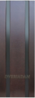 Межкомнатная шпонированная дверь Вертикаль-2 ПО венге