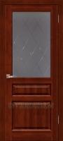 Дверь Венеция ОКА (цвет махагон) остекленная
