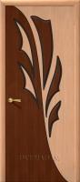 Межкомнатная шпонированная дверь Дуэт ПГ дуб/орех файн-лайн