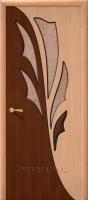 Межкомнатная шпонированная дверь Дуэт ПО дуб/орех файн-лайн