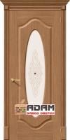 Межкомнатная шпонированная дверь Аура ПО дуб