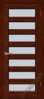 Дверь Премьер Плюс ОКА (цвет махагон)  остекленная