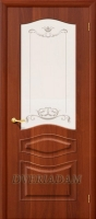 Межкомнатная дверь с ПВХ-пленкой Модена ПО, итальянский орех