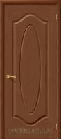 Межкомнатная шпонированная дверь Аура ПГ орех
