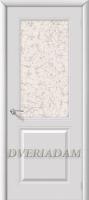 Межкомнатная эмалированная дверь Бриз ПО Белый