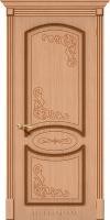 Межкомнатная шпонированная дверь Азалия ПГ дуб файн-лайн