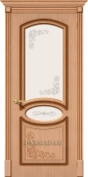 Межкомнатная шпонированная дверь Азалия ПО дуб файн-лайн