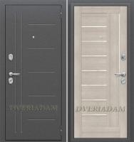 Стальная дверь Оптим Проф Cappuccino Veralinga/White Pearl