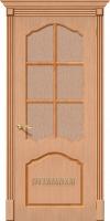 Межкомнатная шпонированная дверь Каролина ПО дуб файн-лайн