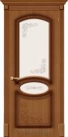 Межкомнатная шпонированная дверь Азалия ПО орех файн-лайн