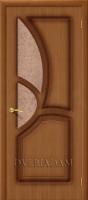 Межкомнатная шпонированная дверь Греция ПО орех файн-лайн