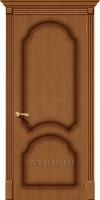 Межкомнатная шпонированная дверь Соната ПГ орех файн-лайн
