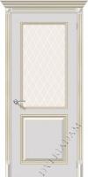 Межкомнатная окрашенная дверь Блюз по белое золото