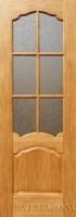 Межкомнатная шпонированная дверь Флоренция ПО дуб