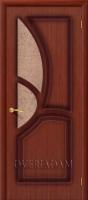 Межкомнатная шпонированная дверь Греция ПО макоре файн-лайн