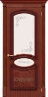 Межкомнатная шпонированная дверь Азалия ПО макоре файн-лайн