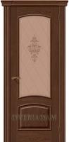 Межкомнатная шпонированная дверь Амальфи ПО Виски