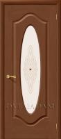 Межкомнатная шпонированная дверь Аура ПО орех