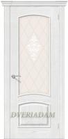 Межкомнатная шпонированная дверь Амальфи ПО Жемчуг