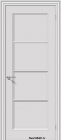 Межкомнатная окрашенная дверь Ритм пг Белый