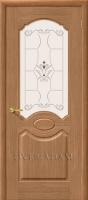 Межкомнатная шпонированная дверь Селена ПО дуб