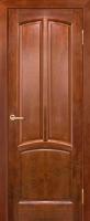 Межкомнатная дверь из Массива Ольхи Виола ПГ цвет Бренди
