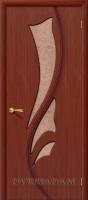 Межкомнатная шпонированная дверь Эксклюзив ПО макоре файн-лайн