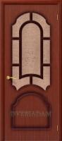 Межкомнатная шпонированная дверь Соната ПО макоре файн-лайн