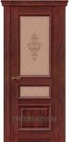 Межкомнатная шпонированная дверь Вена ПО Красное дерево