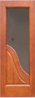 Межкомнатная дверь ЭСЕДРА темный анегри Остекленная