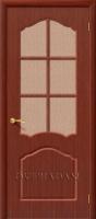 Межкомнатная шпонированная дверь Каролина ПО макоре файн-лайн