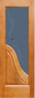 Межкомнатная дверь ЭСЕДРА светлый анегри Остекленная
