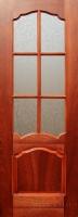Межкомнатная шпонированная дверь Флоренция ПО Красное дерево