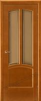 Межкомнатная дверь из Массива Ольхи Виола ПО цвет Бренди