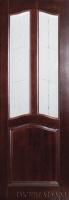 Двери Неаполетано орех остекленная