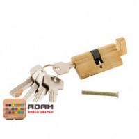 Цилиндр ключ+фиксатор золото