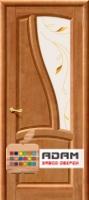 Межкомнатная дверь из массива сосны Рафаэль ПО тон орех