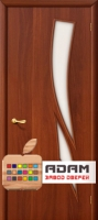 Межкомнатная ламинированная дверь 4С8 итальянский орех (8 С)