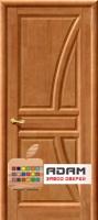 Межкомнатная дверь из массива сосны Моне ПГ тон орех