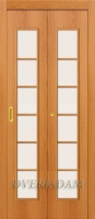 Ламинированная Дверь-книжка 2С ск Миланский Орех