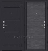 Стальная дверь Оптим Кобра (66мм) Black Wood