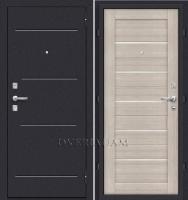 Стальная дверь Оптим Техно Cappuccino Veralinga/White Pearl