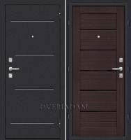 Стальная дверь Оптим Техно Wenge Veralinga/Black Star