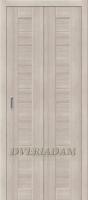 Межкомнатная складная дверь с эко шпоном Порта-21 Cappuccino Veralinga