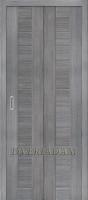 Межкомнатная складная дверь с эко шпоном Порта-21 Grey Veralinga