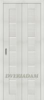 Межкомнатная складная дверь с эко шпоном Порта-22 Bianco Veralinga