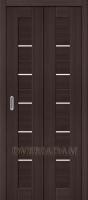 Межкомнатная складная дверь с эко шпоном Порта-22 Wenge Veralinga